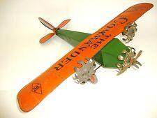 RARE * Henry Katz Tri Motor Tin Toy Airplane * Ca 1929