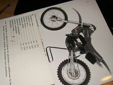 Cagiva  wmx  125   (Press Photo 23x 17  + scheda tecnica )