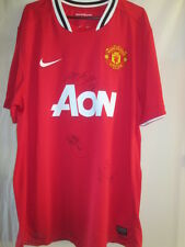 Manchester United Valencia Carrick Keane Young Signed Football Shirt COA /15623