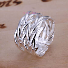 925 Silver Plated Lattice Ring  / Thumb Ring, Fully Adjustable - Ladies gift