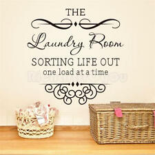 Removable Words The Laundry Room Quote Wall Stickers Decal Home Kitchen Decor