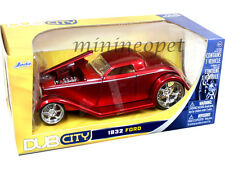 JADA 92407 DUB CITY 1932 FORD 1/24 DIECAST MODEL CAR RED