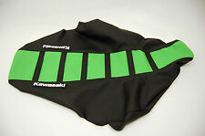 "New Green and Black Ribbed ""Kawasaki"" Seat cover KX125 KX250 1999-01"