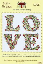 BOTHY THREADS LOVE FLOWERS IN LETTERS COUNTED CROSS STITCH KIT 2015