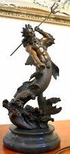 Poseidon  Bronze Figur signiert Bronzestatue Bronzeskulptur Bronzefigur Statue