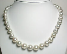 White AA quality 9-11.8mm South Sea saltwater pearl & 18 carat gold necklace