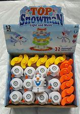 12 congelés l'OLAF LED Lumière Musique filature gyro peg-top kids jouets pour enfants jouet neige