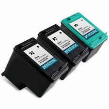 3 Recycled HP 92 93 Ink Cartridge C9362WN C9361WN PhotoSmart C3180 C4180 Printer