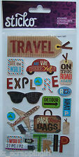 ~HAPPY TRAVELING~ Sticko EK Success Stickers; ROAD TRIP Driving, Vacation Travel