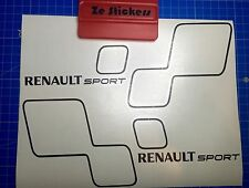 2 Stickers RENAULT SPORT STYLE TROPHY - Clio Megane RS - Couleurs au choix