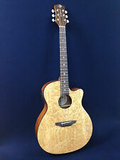 GYP E ZBR Gypsy Quilted Ash Acoustic-Electric Guitar Natural+Free Gig bag,Picks