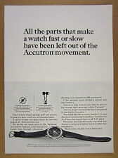 1964 Bulova ACCUTRON SPACEVIEW transparent dial watch photo vintage print Ad