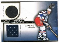 1999-00 SPx WINNING MATERIALS GAME-USED PUCK AND JERSEY #WM10 WAYNE GRETZKY !!