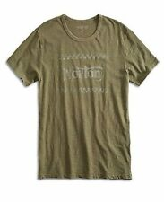 Lucky Brand - NWT - Men's L - Army Green Checkered Norton Motorcycle T-Shirt