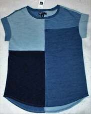 NWT Gap Kids Girl's Ditsy Daydream Indigo Patchwork Tee Shirt Top L 10