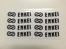 ENKEI RPF1 Stickers Decal Alloy Wheel JDM Black Color 1 set of 8