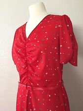 True Vintage Late 60's/Early 70's Sweetheart Style Retro Floral Festival Dress