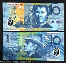 AUSTRALIA $10 P52 1-11-1993 LOW *RED #* RARE POLYMER UNC CURRENCY HORSE BANKNOTE