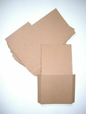 100 Brown recycled card CD DVD sleeve/wallet/cover Unbranded/Blank (Flat)