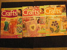 3 Issues CRAFTS BEAUTIFUL Magazines QUICK FESTIVE FIXES Silk Painting GC lot 3