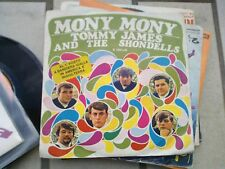 "7"" TOMMY JAMES & THE SHONDELLS MONY MONY ONE TWO THREE AND I FELL EX/VG"