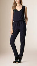 BURBERRY BRIT 'Horsell' Sleeveless Drawstring Waist Jumpsuit  Size US 2 NWT $595