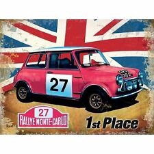 "Metal Wall Sign Mini Cooper S Monte Carlo Advert Style 8"" x 6"""