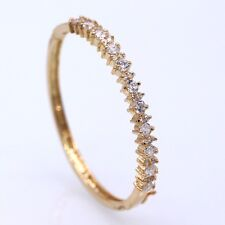 Luxury Champagne Gold Plated Crystal Zircon Bracelet Women Lady Fashion Bangle