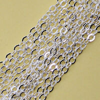 1.5x2mm Oval  Wholesale Jewelry Making Findings Silver Plated Chains 6M