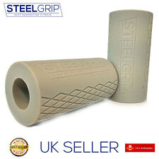 SteelGrip® Arm Training Barbell Grips - Silicone Grey