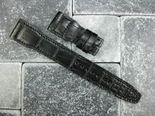 New IWC 22mm Black Grain Leather Watch Band Deployment Strap BIG PILOT 22 V