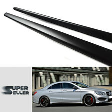 Matte Black Mercedes Benz CLA CLA250 Sport W117 Side Skirts Cover Body kit 2016