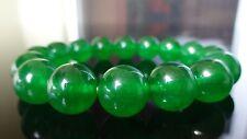 "Genuine Green Jade Quartz Bracelet for Men or Women (Stretch) 12mm - 7.5"" inch"