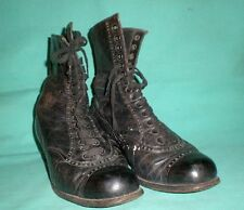 antique Victorian genuine leather granny boots/1880s/Germany