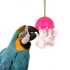 0041 JELLYFISH LARGE BIRD TOY cage toys bulletproof plastic african grey lucky