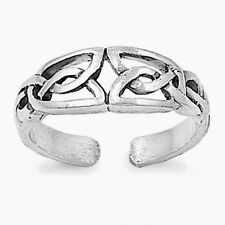 USA Seller Braided Toe Ring Sterling Silver 925 Best Deal Plain Jewelry Gift