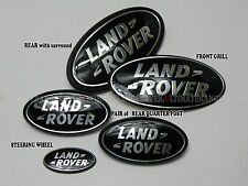FREELANDER 2 BLACK GRILL BACK QUARTER SIDE B C POST STEERING WHEEL BADGE SET