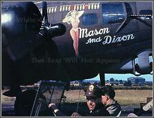 Photo: Nose Art: Mason & Dixon: B-17G Bomber, 351st Bombardment Squadron, WW2