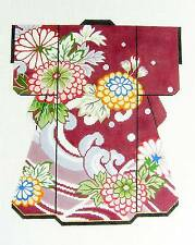 *2014*  LEE Oriental LG. Wine Floral Kimono handpainted HP Needlepoint Canvas
