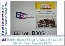 EE B3054 NEW Brawa Brown Brun Plugs for Maerklin Märklin Marklin Pk/10 B 3054