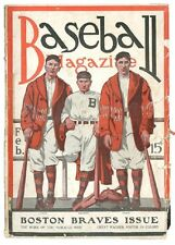 1915 Boston Braves Issue Cover Baseball Magazine with Honus Wagner Insert