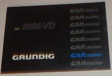 Manual de instrucciones Grunding autoradio WKC 2680 Vd