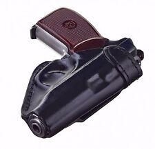 Russian Belt Holster for Makarov pistol PM PPM for FSB Black leather