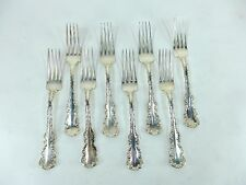 8 Birks Sterling Silver Louis XV  6 7/8 inch Dinner Fork NO Monogram