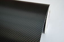 CARBON FIBRE VINYL WRAP CAR STICKER [3D] Black 500MM x 1520MM SIZE