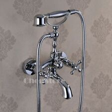 Bathroom Chrome Clawfoot Bathtub Faucet Handheld Shower Mixer Tap B15