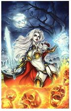 LADY DEATH ART PRINT #26 Signed by BRIAN PULIDO / COFFIN COMICS