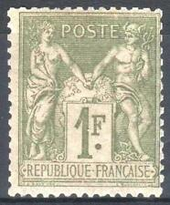 "FRANCE STAMP TIMBRE YVERT N° 82 "" SAGE 1F OLIVE CLAIR 1883 "" NEUF xx TB   M962"