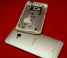 Original htc one m7 Tapa batería carcasa trasera en Battery cover housing plata