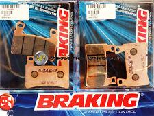 PER HONDA CBR RR 600 2004 04 PASTIGLIE ANTERIORE SINTERIZZATE FRENO BRAKING CM55
